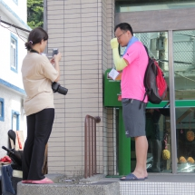 Tourists in front of Lanyu's only post office