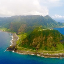 Lanyu south to north overview aerial photo by Cheng