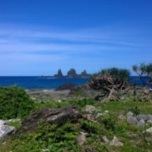 Vulcanic offshore rocks
