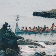Yami ceremony rowing-fishing boat