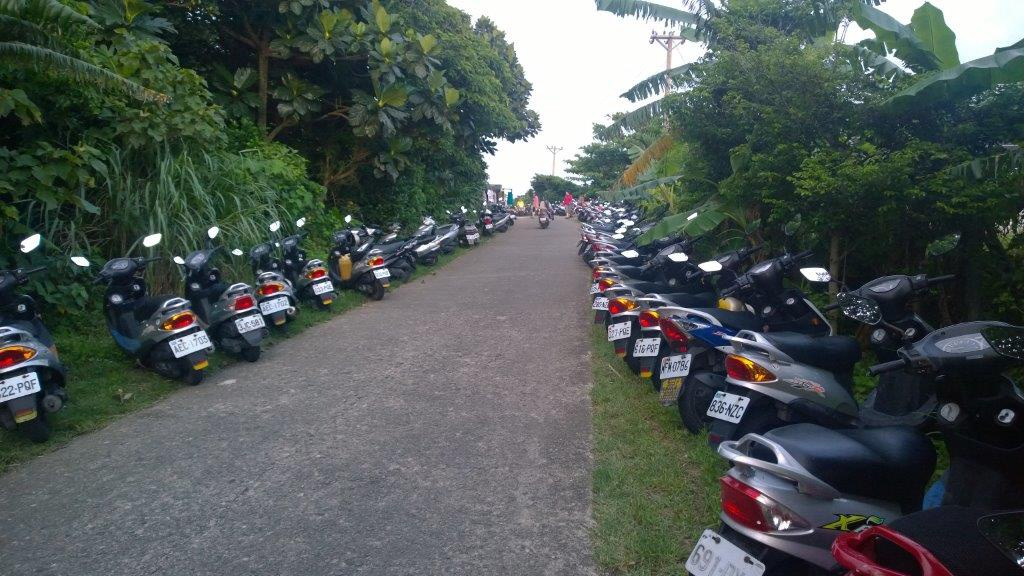 There might be more scooters then people on Lanyu